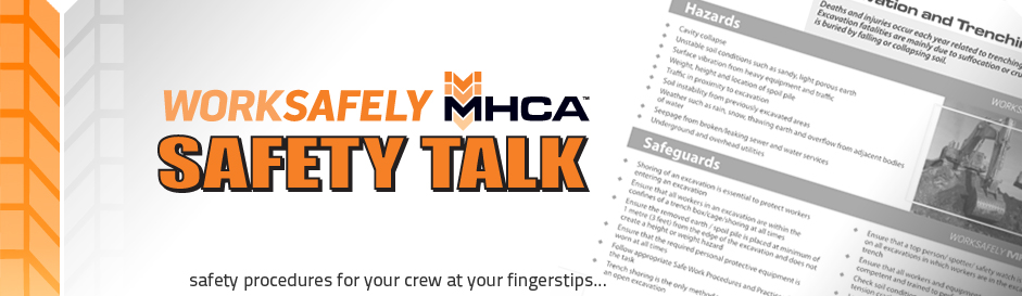 safety talks manitoba heavy construction association manitoba