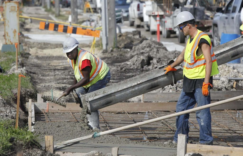 Sidewalk construction along Ness was near the news conference where Chris Lorenc, President, Manitoba Heavy Construction Association launched Fix My Infrastructure campaign. Wayne Glowacki/Winnipeg Free Press