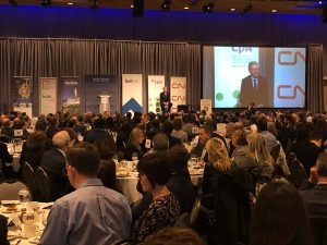 Manitoba Premier Brian Pallister at business lunch