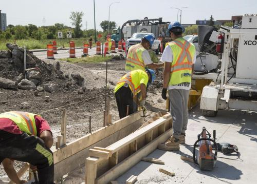 Construction work on Empress Avenue by Borland. (Colin Corneau photo)