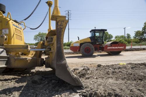 Construction work on Empress Avenue by Borland. (Colin Corneau photo)