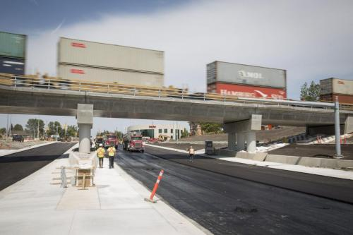 Construction work on Waverley Underpass by Maple Leaf. (Colin Corneau photo)